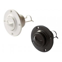 pyöreä muovinen peräpeilin tyhjennystulppa, 24,70 mm, valkoinen