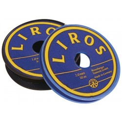 Liros polyesteri musta whipping-langan 1,5mm x 20mt