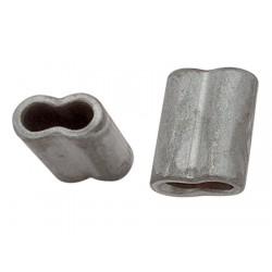 eloksoitu alumiininen soikea holkki silmukointia varten 4mm