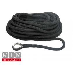 Kiinnityslinja musta 20mm X 15m thimble