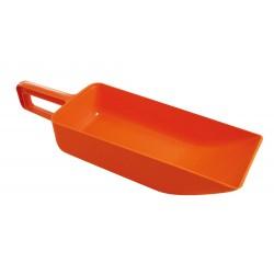Oranssi litteä kaarre kahvalla