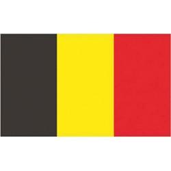 Vlag België 100% polyester 30 X 45 cm...