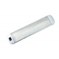 Valkoinen loisteputken led-valo kytkimellä 380 mm 12v x 8w